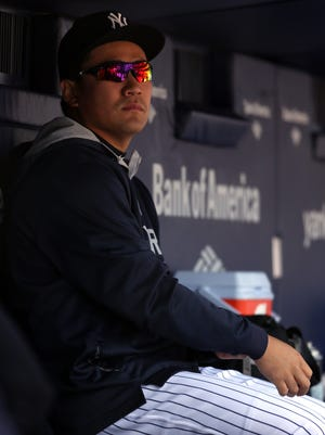 Yankees pitcher Masahiro Tanaka threw for the first time since going on the Disabled List with a forearm strain on April 28.