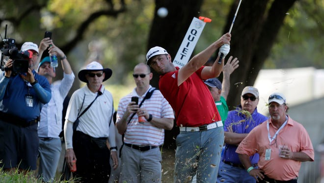 Jon Rahm of Spain lost to Dustin Johnson of the United States in the final round of the World Golf Classic - Dell Match Play golf tournament  at Austin Country Club on March 26.