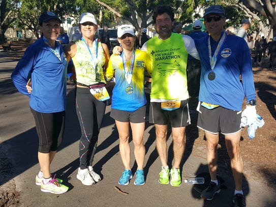 A group from the Coffee Clutchers running club in Geneva,