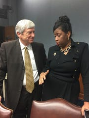 Sen. Gerald Long, R-Winnfield, and Rep. Katrina Jackson,