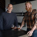 Jeff Albarella, left, and Brad Lincoln will open Barrel House at Jessup Farm in November with a variety of barrel-aged beers.