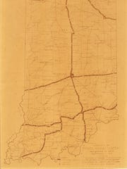 First map of Indiana's highway system.