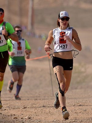 Mea Gardner-Brown, of Bremerton, placed 14th in her division of the World's Toughest Mudder competition in November in Las Vegas. She ran 50 miles of the obstacle course in the 24-hour race.