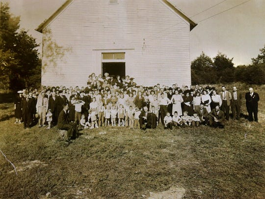 Jerusalem Cumberland Presbyterian Church Homecoming around 1945.