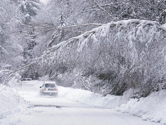 APTOPIX Winter Weather Maine