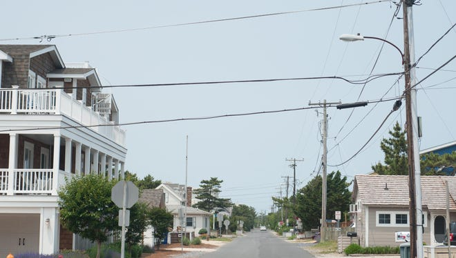 A view of Bunting Avenue in Fenwick Island.