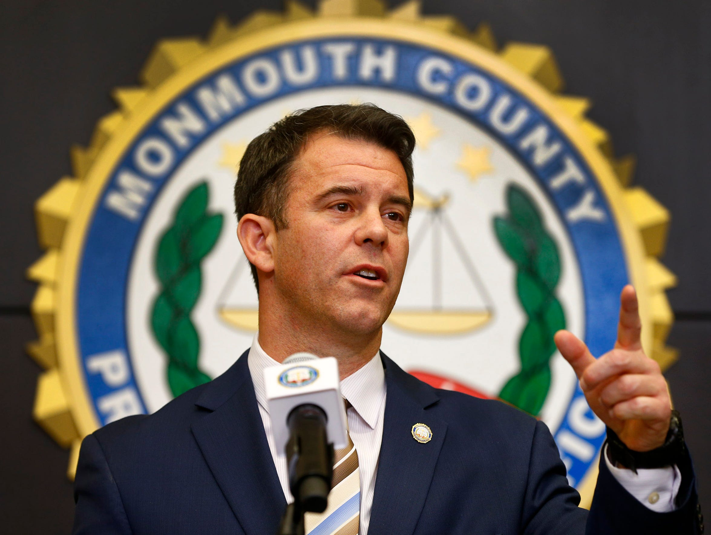 Monmouth County Prosecutor Christopher Gramiccioni at a 2018 press conference.