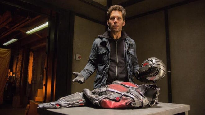 Paul Rudd plays the role of Scott Lang, a.k.a. Ant-Man, in the latest in a line of Marvel characters to hit the movies.
