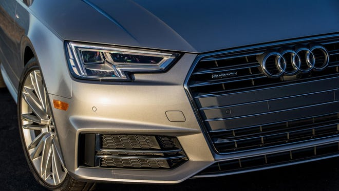The Audi A4 2.0T quattro is powered by a 2.0-liter turbocharged 4-cylinder engine that puts out 252 hp and 273 pound-feet of torque.