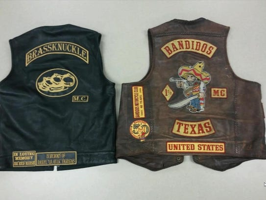 Brass Knuckle and Bandidos vests