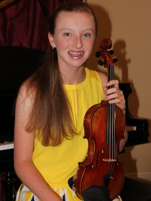 Christina Danford will perform as a violinist at Carnegie Hall on June 25 in the Honors Junior Orchestra.