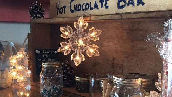 Cozty down and dig in at the Hot Chocolate Bar at The