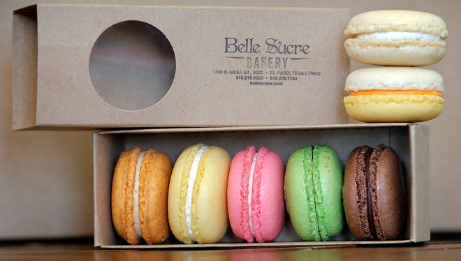 The macarons at Belle Sucre Bakery, 7500 N. Mesa, are sweet, tasty and colorful. Sarah Cintron, the head pastry chef, says though macarons are difficult to make, the final result is delicious.