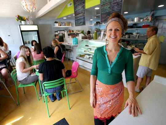 Ezra's Enlightened Cafe owner Audrey Barron is among