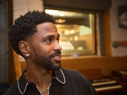 Big Sean speaks in Studio A at the Motown Museum in