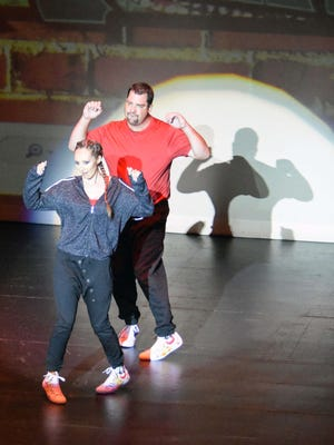 "Michelle Leckenbusch and professional dancer Patrick Esper perform original choreography Oct. 7 at the eight annual ""Dancing With Our PALs"" at the Sunrise Theatre in historic downtown Fort Pierce."