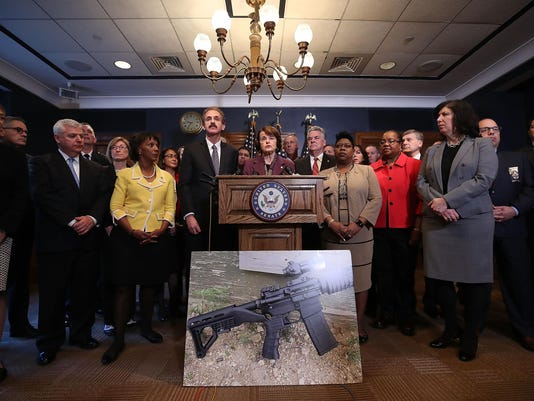 Sen. Dianne Feinstein (D-CA) Leads News Conference Calling For Increased Gun Control Measures