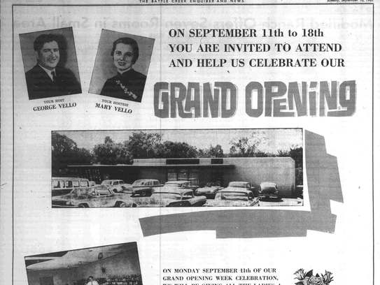 A 1961 advertisement in the Battle Creek Enquirer for