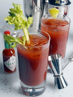 Bloody Marys are a popular morning drink.