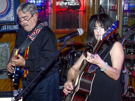Joe Pfeiffer and Terry Cieri of the cover band Silk and Steel perform at the Broadway Bar and Grill in Point Pleasant Beach on June 5.