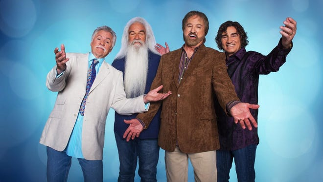 The Oak Ridge Boys — from left, Joe Bonsall, William Lee Golden, Duane Allen and Richard Sterban — return to the Forum in Binghamton for a concert Friday.