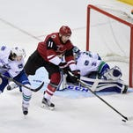 3-goal second period sinks Arizona Coyotes against Vancouver Canucks