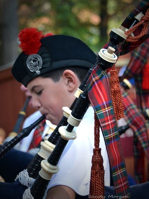 Payton Wallace plays the bagpipes at the Celtic Festival in Snow Hill. This year's festival is Oct.1-2, 2016.