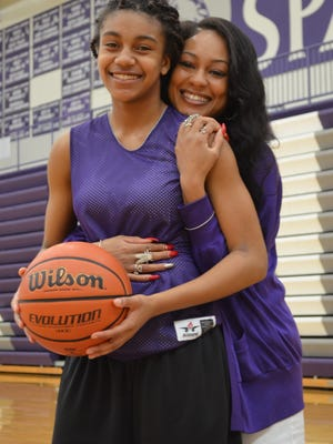 Lakeview freshman Brazyll Watkins is among the leading scorers in the city, following in the footsteps of her mom - Audrey Graham-Jackson - the school's all-time leading scorer.