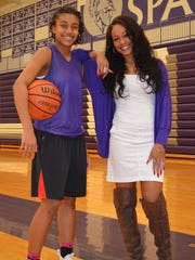 Lakeview's Brazyll Watkins, left, and mother, former