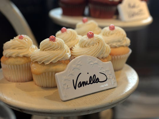 One of Just Cupcakes' signature items is vanilla on