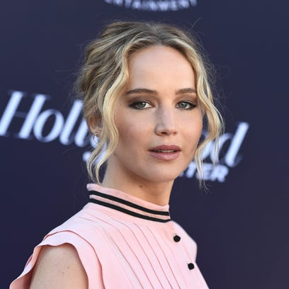 Jennifer Lawrence arrives at The Hollywood Reporter's