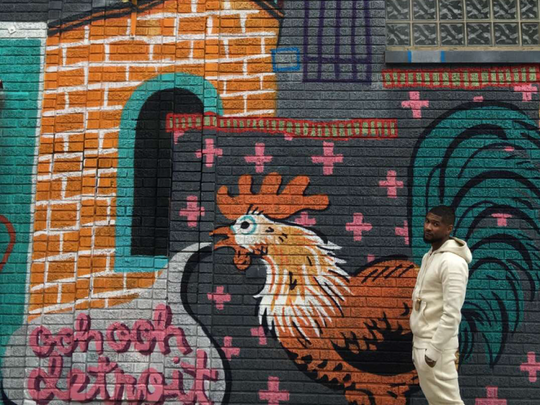 Usher visited several murals located throughout Eastern Market on Tuesday.