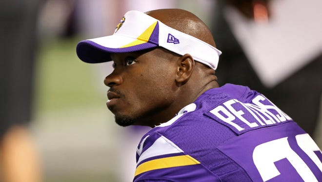 Vikings RB Adrian Peterson played one game in 2014.