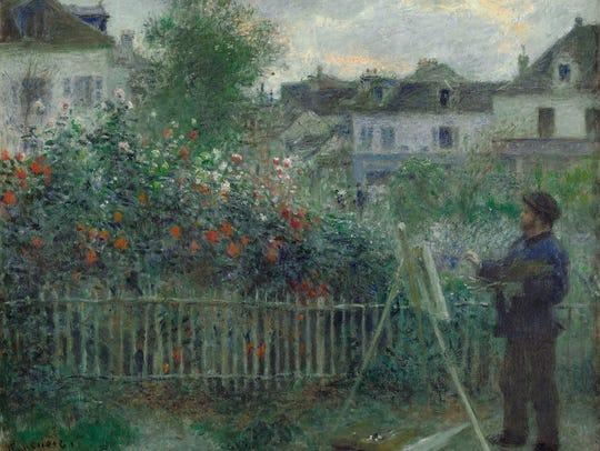 """Claude Monet Painting in His Garden at Argenteuil,"""