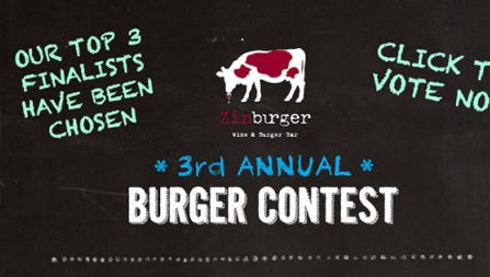 Vote now for your favorite limited-edition Zinburger.
