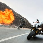 "Tom Cruise appears in a scene from ""Mission: Impossible — Rogue Nation."""
