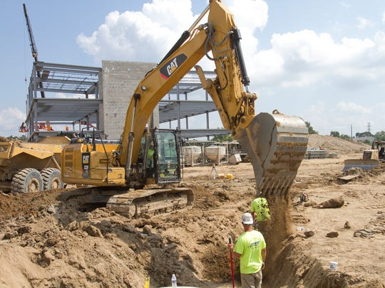 Construction is underway Tuesday, Sept. 6, 2016 at