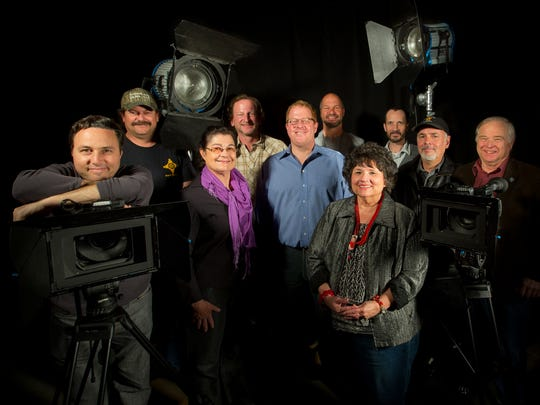 Film Las Cruces leadership in 2016 included, from left, Ross Marks, Dan Williams, Lamaia Vaughn, Stephen Osborn, Jeff Steinborn, Derek Fisher, Irene Oliver-Lewis, Matt Byrnes, Scott Murray and Gill Sorg.