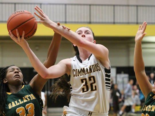 Hendersonville High School player Chelsey Burton puts