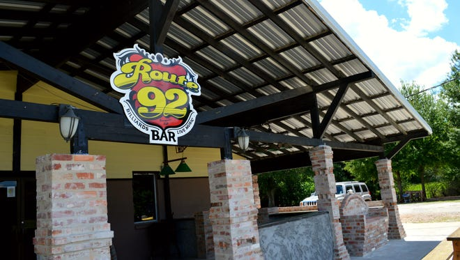 Outside of Route 92, 2600 E Milton Ave., there is a new brick-patio front with seating.