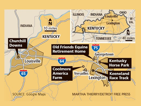 Horse-related sites to visit in Louisville and Lexington Kentucky.
