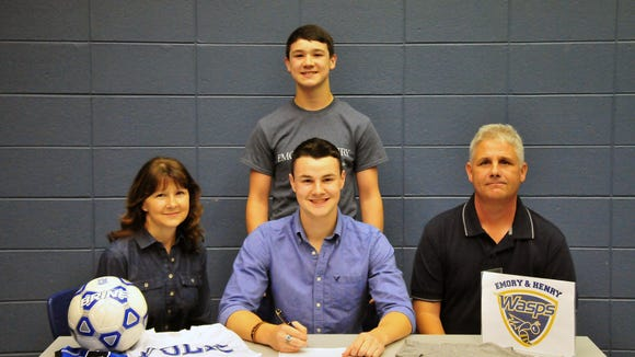 Polk County senior Wil Rimer has signed to play college soccer for Emory & Henry (Va.).