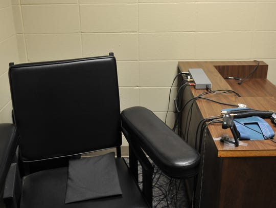 Polygraph interview room at the Minnehaha County Sheriff's