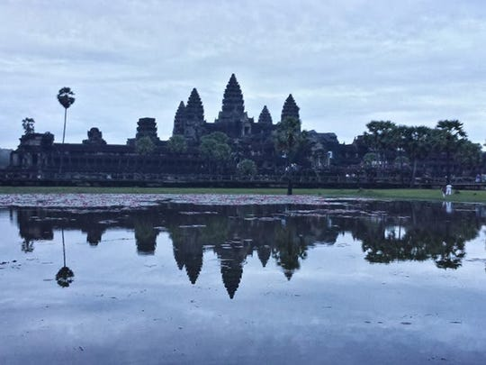 The famous temples of Angkor Wat in Siem Reap, Cambodia.