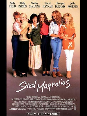 Steel Magnolias was filmed in Natchitoches, Louisiana.