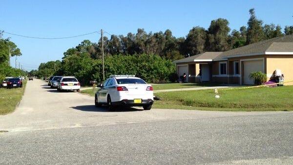 Lee County deputies on the scene of a burglary in Lehigh