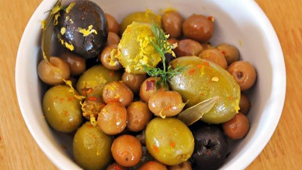 Spanish olives from Parador tapas restaurant in Egg Harbor.