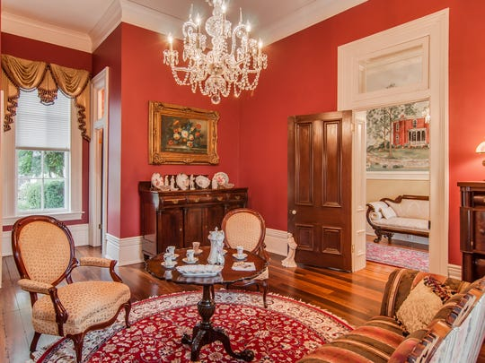 Period-specific furniture and décor are found throughout