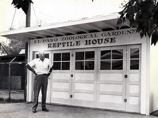 Zoo director Gerry Tordt stands in front of remodeled,
