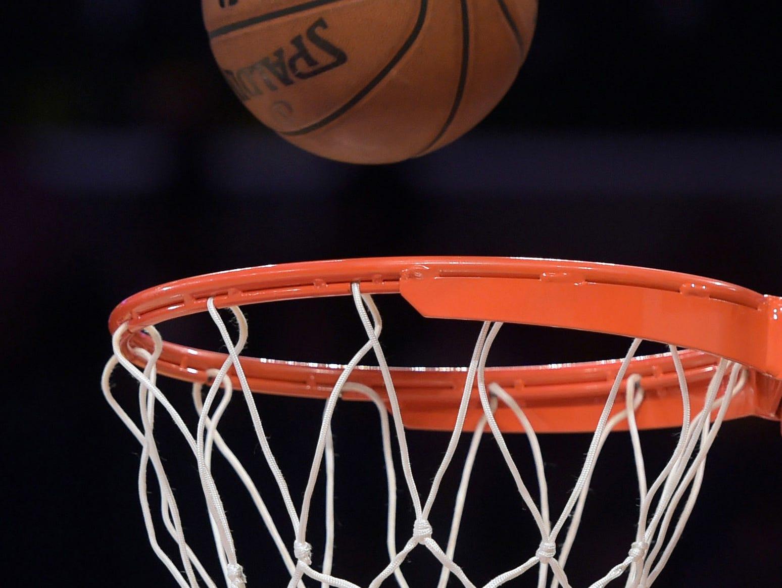 Basketball and rim